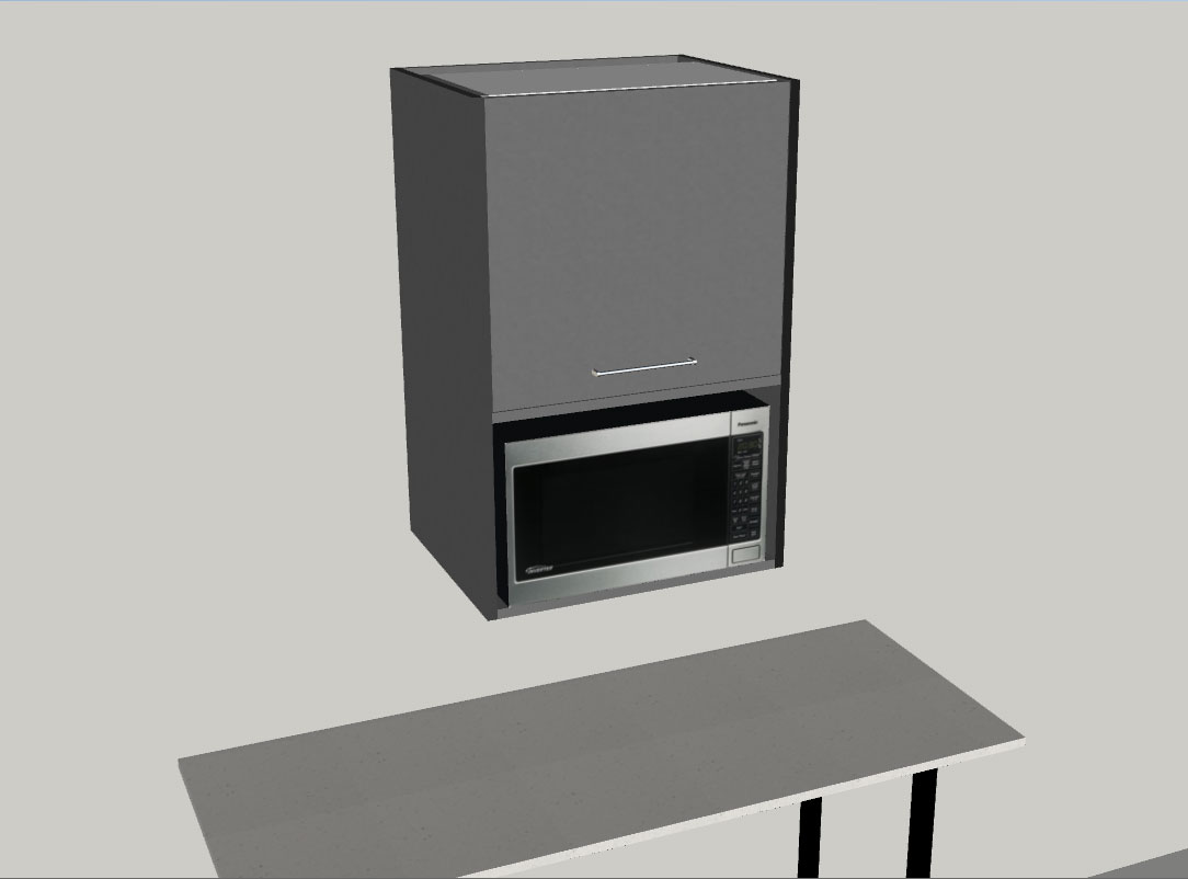 Wall Microwave Unit Lift Door Incredible Kitchen Company