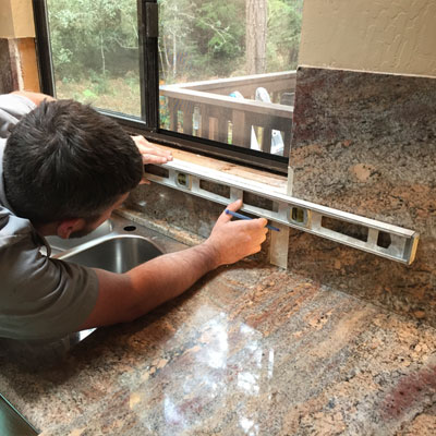 Install your stone benchtop