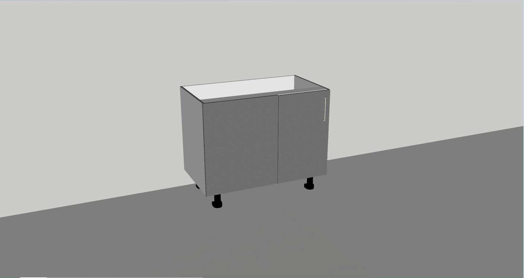 Floor Cabinet Blind Panel 1 Door With Shelf Incredible Kitchen Company