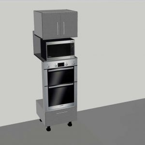 Tall Double Oven Tower with microwave space – 2 door